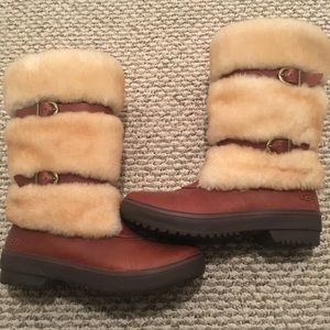 UGG waterproof tall boots, Lilyan style, brown